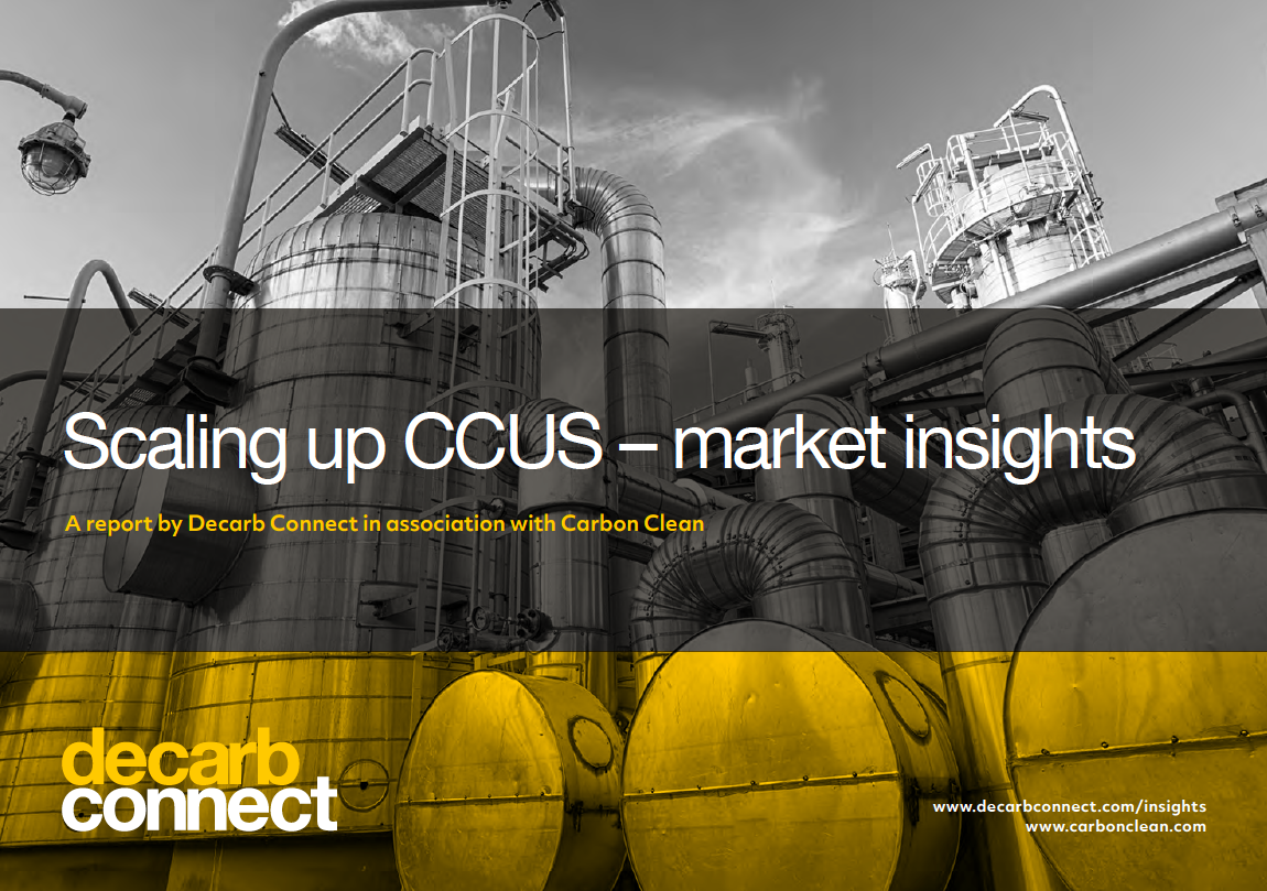Decab Connect | Scaling up CCUS - market insights front cover